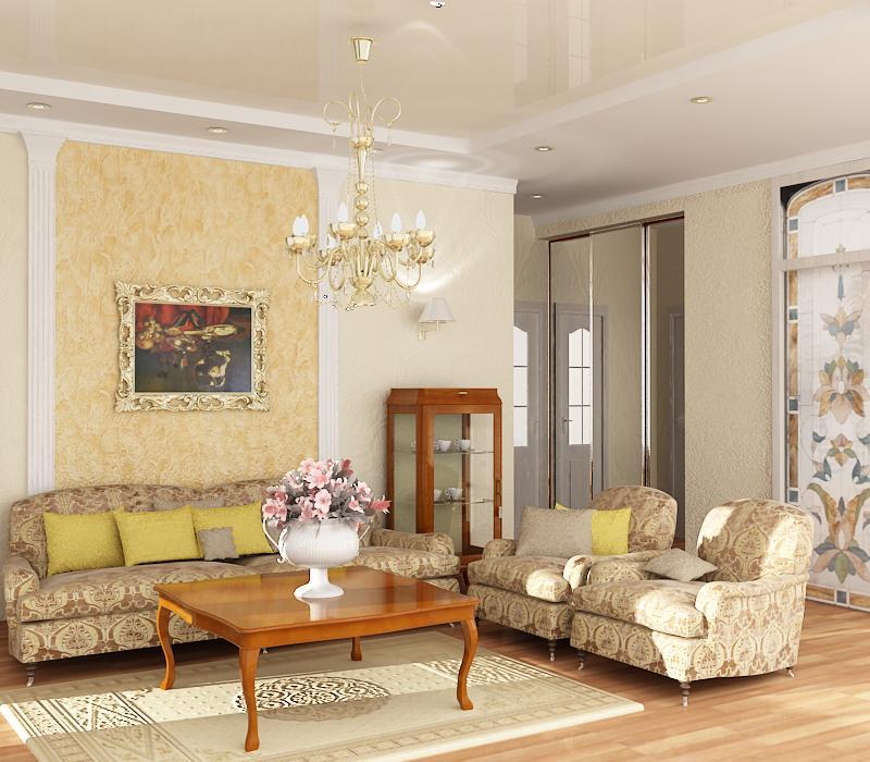 Дизайн классической гостиной фото