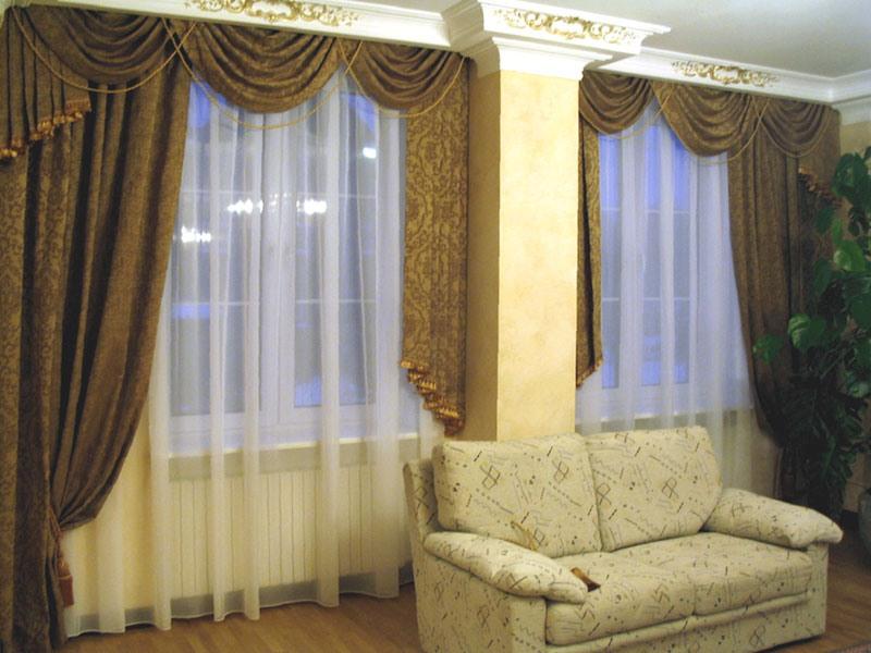 Модели штор в гостиную