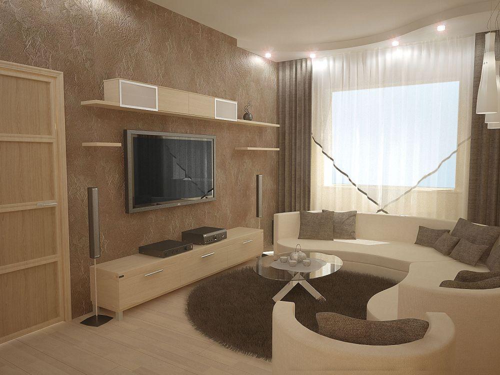 Дизайн потолка для маленькой комнаты